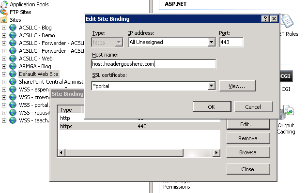 Using Host Headers and SSL in IIS 7 (without the ugliness of appcmd ...