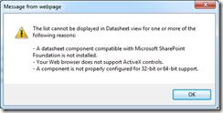 SharePoint Error Datasheet