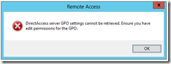 GPO Remote Access Error